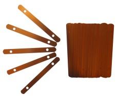 Stahldeckleiste 120mm für Hängehefter (100 Stück)