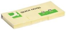 Q-Connect® Haftnotizen - gelb - 40 x 50 mm Haftnotizblock 40 x 50 mm, 3 Blöcke
