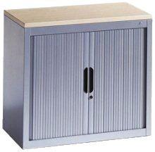 CP Stahl-Rollladenschrank OMNISPACE - mit Abdeckplatte und 2 Fachböden, ahorn Rollladenschrank