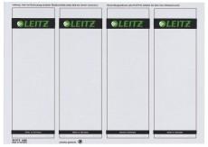 Leitz 1685 PC-beschriftbare Rückenschilder - Papier, kurz/breit,100 Stück, grau Rückenschild