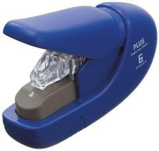 Plus Japan Heftgerät klammerlos - blau, bis 5 Blatt Heftgerät bis 5 Blatt klammerlos 16 mm blau