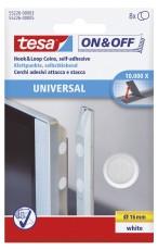 tesa® On & Off Klettpunkte - Ø 16 mm, weiß,selbstklebend Klettfix Klettpunkte weiß Ø 16 mm
