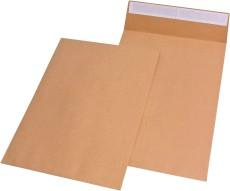MAILmedia® Faltentaschen C4, ohne Fenster, mit 40 mm-Falte, 120 g/qm, braun, 100 Stück C4 braun