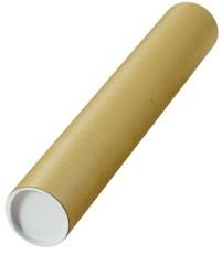 MAILmedia® Versandrohre mit vormontierten Verschlusskappen - Ø 80 x 500 mm, braun, 10 Stück braun