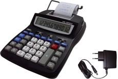 LEO® Tischrechner 1225B II - druckend, schwarz Lieferung mit Netzteil Tischrechner schwarz