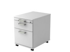 Rollcontainer 58cm,1Schub,1HR,Schl.CE Weiß