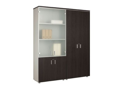 schrank mit 2 t ren in dekor unten regal oben b ro design kruel beratungs planungs gmbh. Black Bedroom Furniture Sets. Home Design Ideas