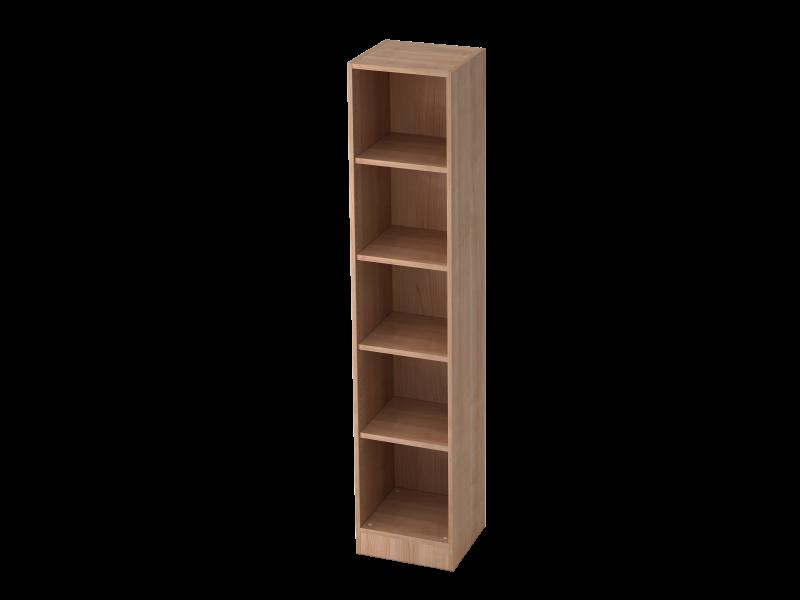 regal schmal 5oh mit sockelblende nussbaum b ro design. Black Bedroom Furniture Sets. Home Design Ideas