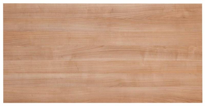 Tischplatte 160x80cm mit systembohrung nussb b ro design for Design tischplatte