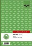 SIGEL Aufträge - A5, 1. und 2. Blatt bedruckt, SD, MP, 2 x 40 Blatt Auftragsbuch A5 2 x 40 Blatt
