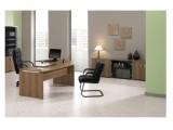 Schreibtisch mit Wangenfuß GEBOGENE Tischplatte