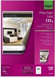 SIGEL Fotopapier für Farb-Laser/-Kopierer - A4, 2-seitig hochglänzend, 135 g/qm, 200 Blatt A4 A4