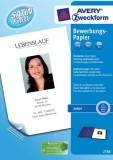 Avery Zweckform® 2788 Inkjet Bewerbungspapier, DIN A4, beidseitig beschichtet - satiniert, 100 g/qm, 200 Blatt
