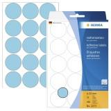 Herma 2273 Vielzwecketiketten - blau, Ø 32 mm, matt, 480 Stück Haftetiketten ø 32 mm rund blau