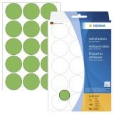 Herma 2275 Vielzwecketiketten - grün, Ø 32 mm, matt, 480 Stück Haftetiketten ø 32 mm rund grün