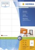 Herma 4453 Etiketten Premium A4, weiß 70x36 mm Papier matt 2400 St. Universaletiketten 70 x 36 mm