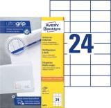 Avery Zweckform® 3474 Universal-Etiketten - 70 x 37 mm, weiß, 2.400 Etiketten/100 Blatt, permanent