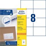 Avery Zweckform® 3427 Universal-Etiketten - 105 x 74 mm, weiß, 800 Etiketten/100 Blatt, permanet