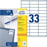 Avery Zweckform® 3421 Universal-Etiketten - 70 x 25,4 mm, weiß, 3.300 Etiketten/100 Blatt, permanent