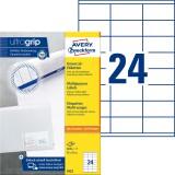 Avery Zweckform® 3422 Universal-Etiketten - 70 x 35 mm, weiß, 2.400 Etiketten/100 Blatt, permanent