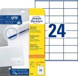 Avery Zweckform® 3490 Universal-Etiketten - 70 x 36 mm, weiß, 720 Etiketten/30 Blatt, permanent