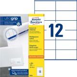 Avery Zweckform® 3424 Universal-Etiketten - 105 x 48 mm, weiß, 1.200 Etiketten/100 Blatt, permanent