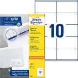Avery Zweckform® 3425 Universal-Etiketten - 105 x 57 mm, weiß, 1.000 Etiketten/100 Blatt, permanent