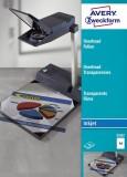 Avery Zweckform® 2502 Overhead-Folien, DIN A4, spezialbeschichtet, stapelverarbeitbar, Stärke: 0,11 mm, 50 Blatt