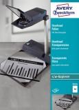 Avery Zweckform® 3555 Overhead-Folien - A4, unbeschichtet, Stärke 0,10 mm, 100 Blatt Overheadfolie