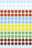 Herma 1831 Vielzwecketiketten - farbig sortiert, Ø 8 mm, matt, 540 Stück Farb-/Markierungs-Punkte