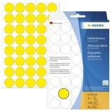 Herma 2251 Vielzwecketiketten - gelb, Ø 19 mm, matt, Trägerpapier perforiert, 1280 Stück ø 19 mm