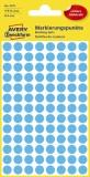 Avery Zweckform® 3011 Markierungspunkte - Ø 8 mm, 4 Blatt/416 Etiketten, blau Markierungspunkte