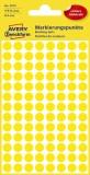 Avery Zweckform® 3013 Markierungspunkte - Ø 8 mm, 4 Blatt/416 Etiketten, gelb Markierungspunkte