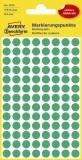 Avery Zweckform® 3012 Markierungspunkte - Ø 8 mm, 4 Blatt/416 Etiketten, grün Markierungspunkte