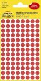 Avery Zweckform® 3010 Markierungspunkte - Ø 8 mm, 4 Blatt/416 Etiketten, rot Markierungspunkte rot