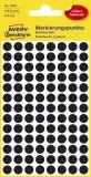 Avery Zweckform® 3009 Markierungspunkte - Ø 8 mm, 4 Blatt/416 Etiketten, schwarz Markierungspunkte