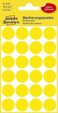 Avery Zweckform® 3007 Markierungspunkte - Ø 18 mm, 4 Blatt/96 Etiketten, gelb Markierungspunkte 96
