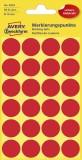 Avery Zweckform® 3004 Markierungspunkte - Ø 18 mm, 4 Blatt/96 Etiketten, rot Markierungspunkte rot
