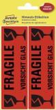 Avery Zweckform® 3050 Warnhinweise, 119 x 38 mm, vorgedruckt, 5 Blatt/10 Etiketten, leuchtrot 10