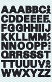 Avery Zweckform® 3780 Buchstaben-Etiketten - A-Z, 9,5 mm, schwarz, selbstklebend, wetterfest, 104 Etiketten