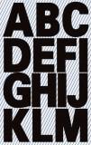 Avery Zweckform® 3784 Buchstaben-Etiketten - A-Z, 25 mm, schwarz, selbstklebend, wetterfest, 28 Etiketten