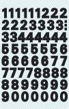 Avery Zweckform® 3781 Zahlen-Etiketten - 0-9, 9,5 mm, schwarz, selbstklebend, wetterfest, 120 Etiketten