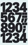 Avery Zweckform® 3781 Zahlen-Etiketten - 0-9, 25 mm, schwarz, selbstklebend, wetterfest, 28 Etiketten