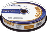 MediaRange DVD+R - 4.7GB/120Min, 16-fach/Spindel, Packung mit 10 Stück DVD+R 4.7GB/120Min 16-fach