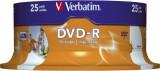 Verbatim DVD-R - 4.7GB/120Min, 16-fach/Spindel,bedruckbar, Packung mit 25 Stück DVD-R 4.7GB/120Min