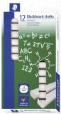 Staedtler® Wandtafelkreide Alabaster, 13 x 13 x 90 mm, weiß, Kartonetui mit 12 Stück Kreide 13 mm
