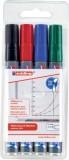 Edding 250 Boardmarker - nachfüllbar, 1,5 - 3 mm, sortiert, 4er Pack Boardmarkeretui ca. 1,5 - 3 mm
