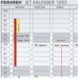 Franken Datumsstreifen, 191 x 695 mm, weiß Datumsstreifen 19,1 x 69,5 cm weiß