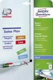 Avery Zweckform® J8871-5 Magnet-Schilder, 78 x 28 mm, spezialbeschichtet, 5 Blatt/90 Etiketten, weiß