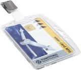 Durable Ausweishülle mit Security Clip - Kunststoff, 85 x 54 mm, 25 Stück Ausweishalter 1 Stück